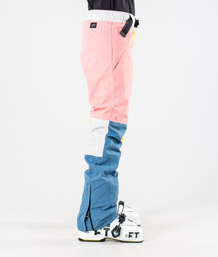 Dope Blizzard LE W Women's Ski Pants Pink Patchwork