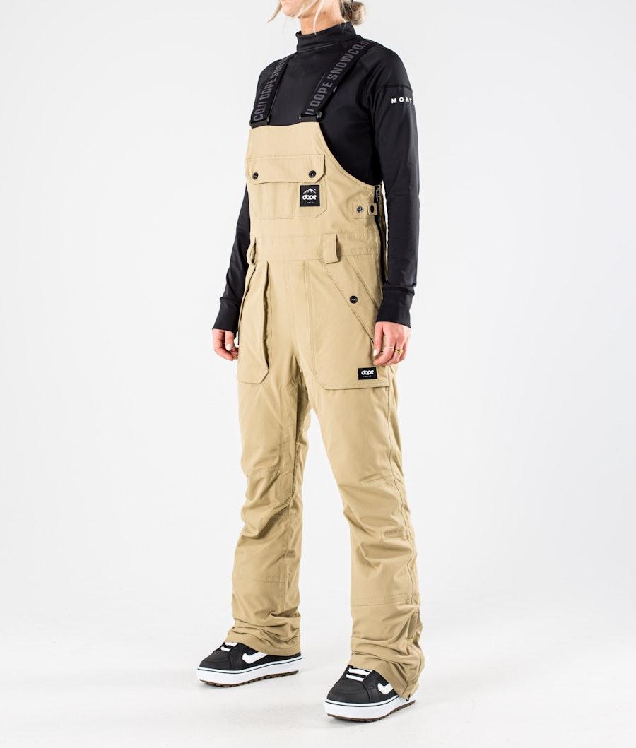 Dope Notorious B.I.B W Women's Snowboard Pants Khaki