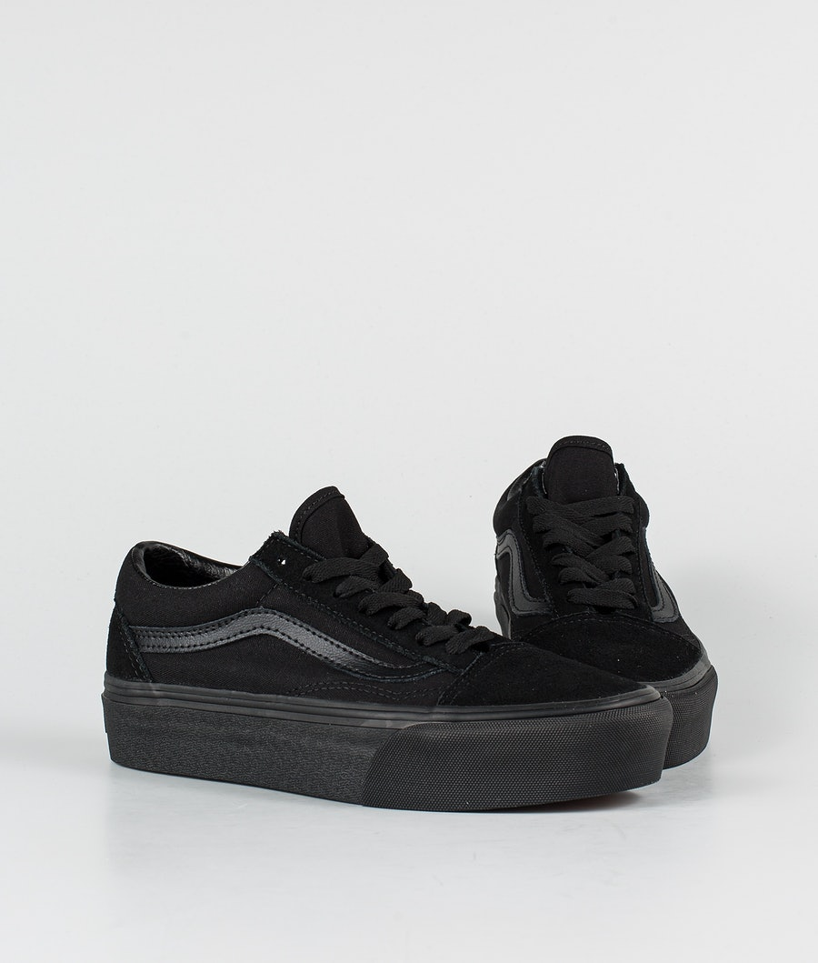 Vans Old Skool Platform Women's Shoes Black/Black