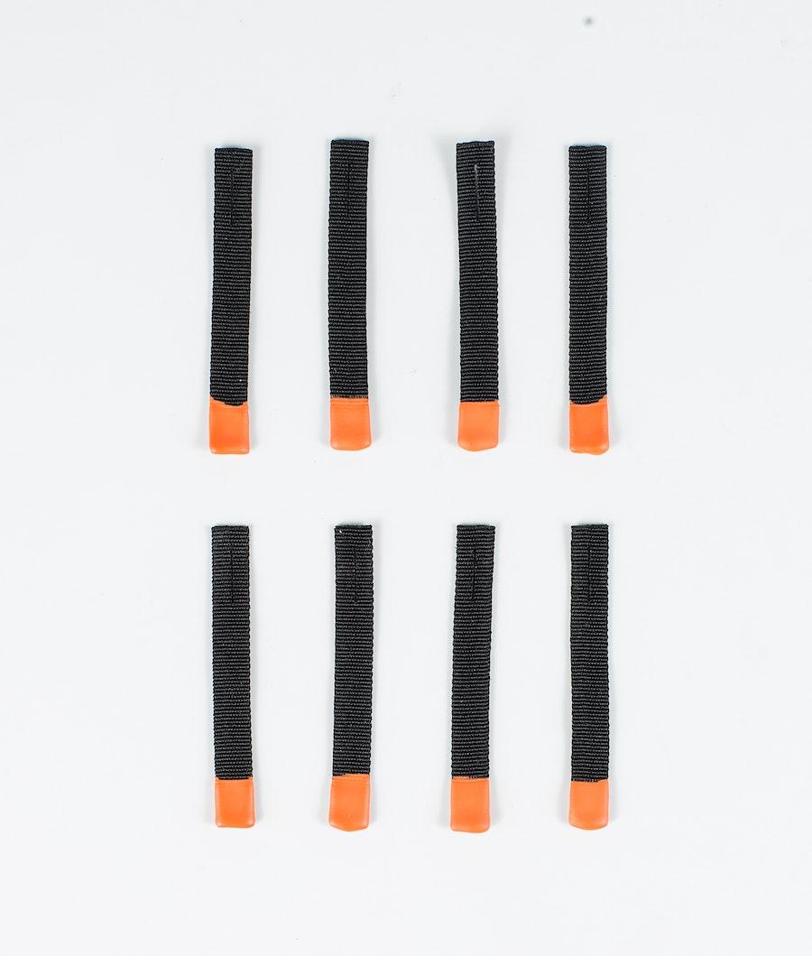 Dope Zip Puller Replacement 8pcs Black with orange tip