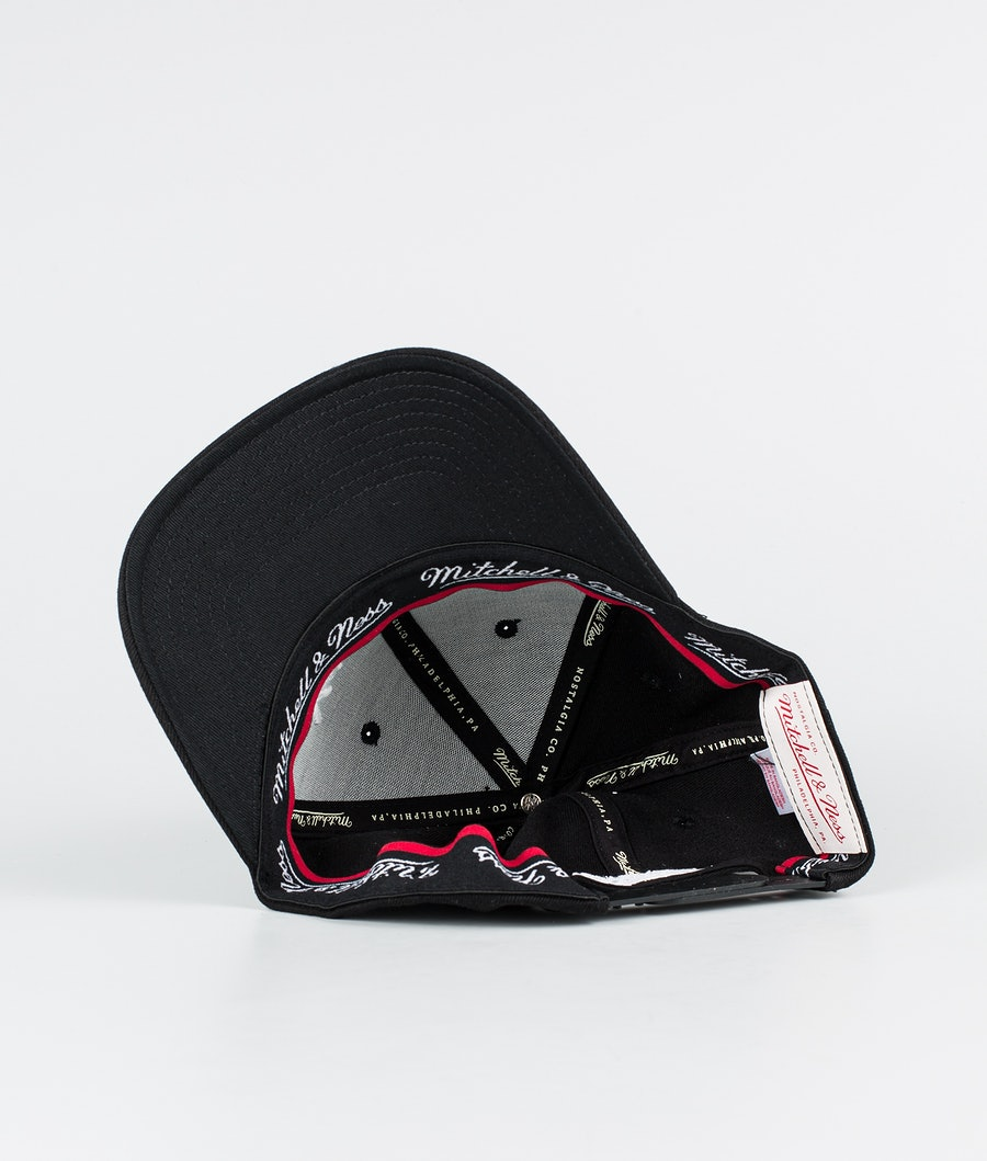 Mitchell and Ness Pinscript Snapback Keps Black/White