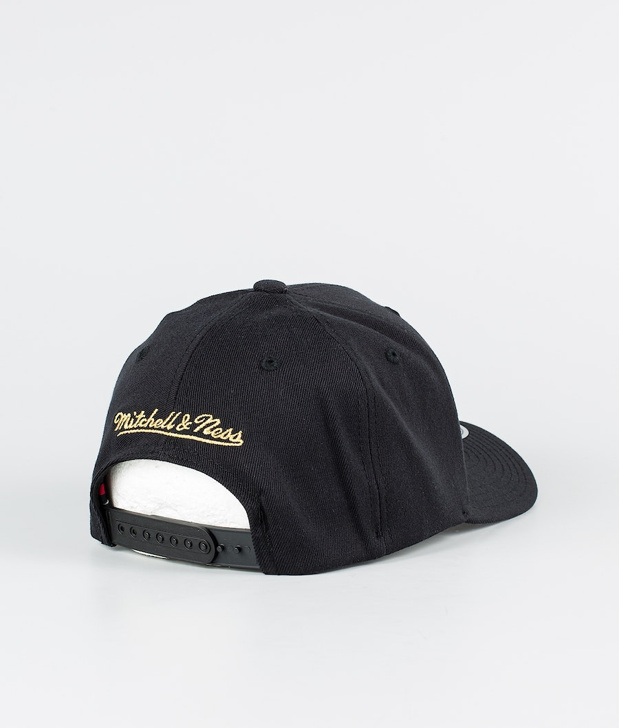 Mitchell and Ness Pinscript Snapback Keps Black/Gold