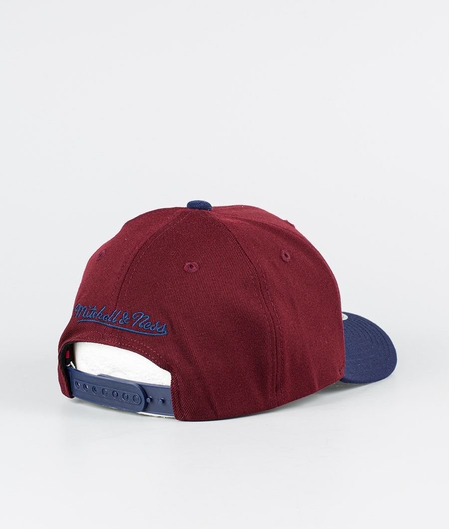 Mitchell and Ness Two Tone Pinscript Keps Burgundy/Dark Navy