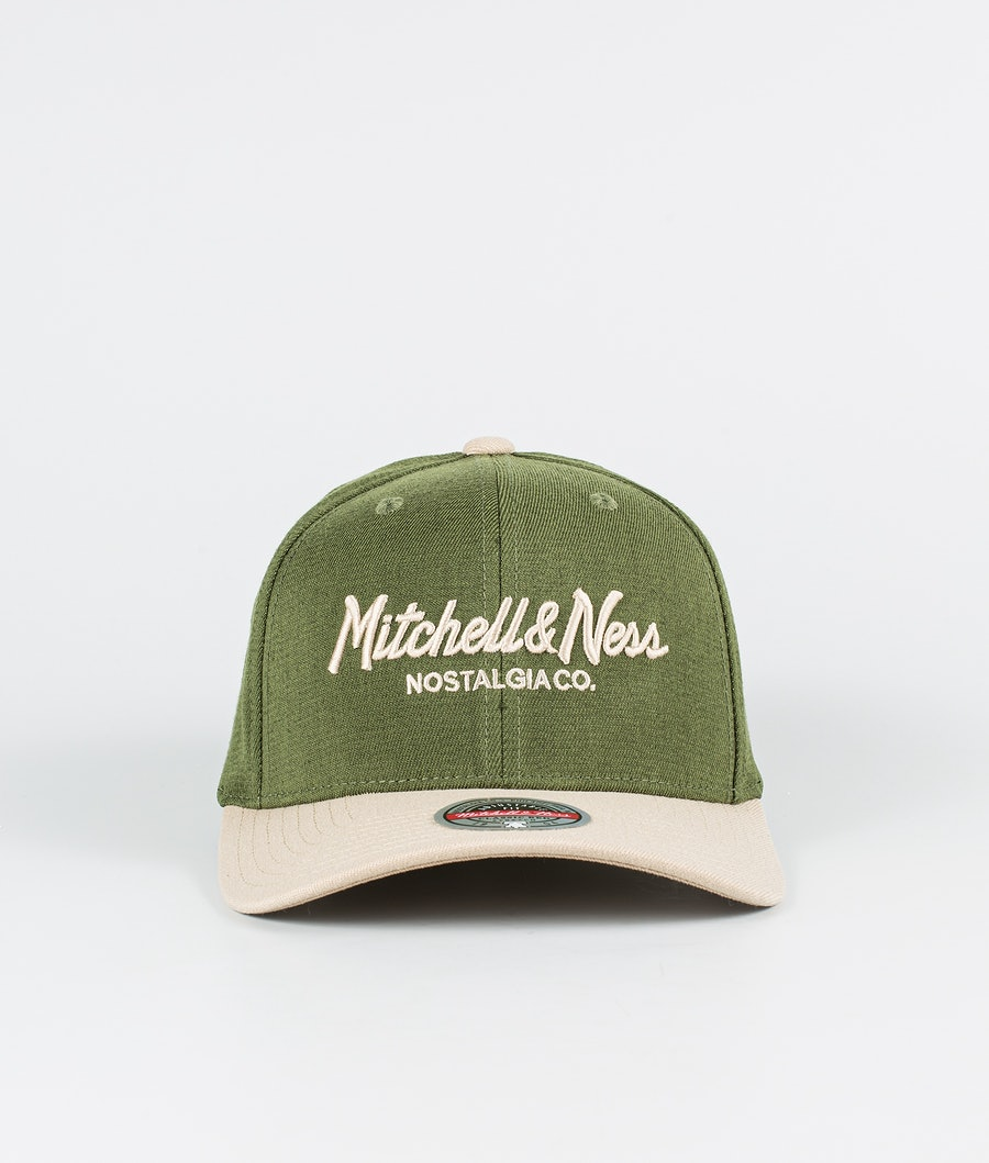 Mitchell and Ness Two Tone Pinscript Keps Khaki/Olive