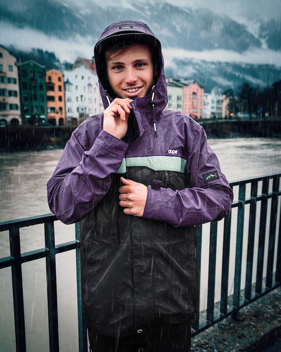 Dope Trekker 20 Outdoor Jacket Grape Faded Green Black