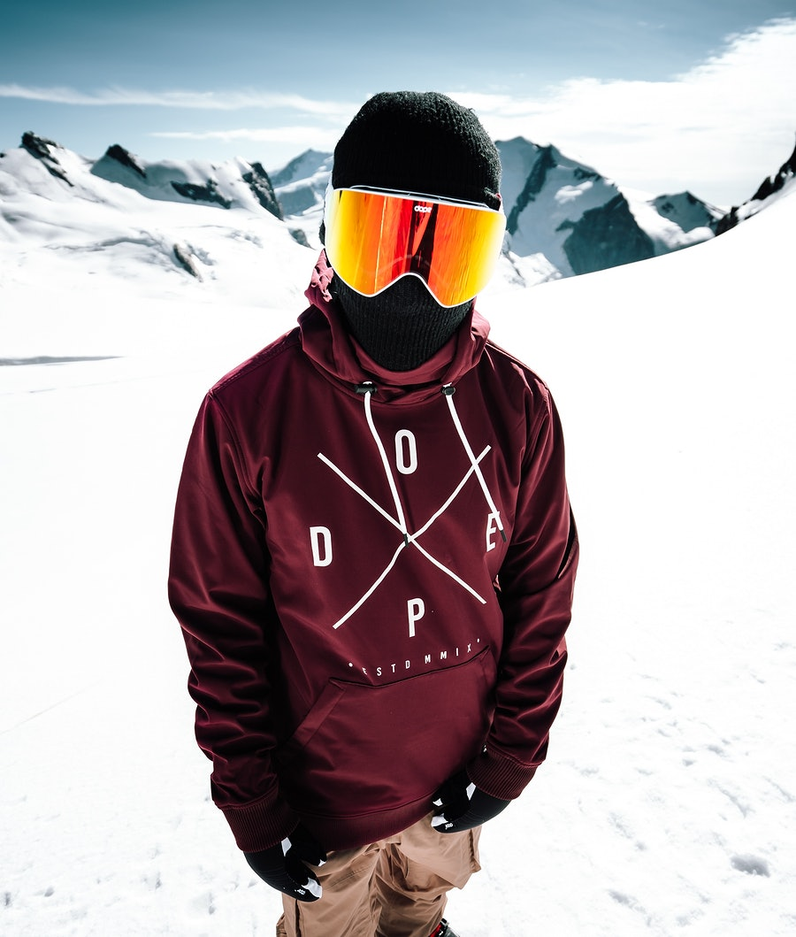 Yeti Snowboard Jacket Men Burgundy