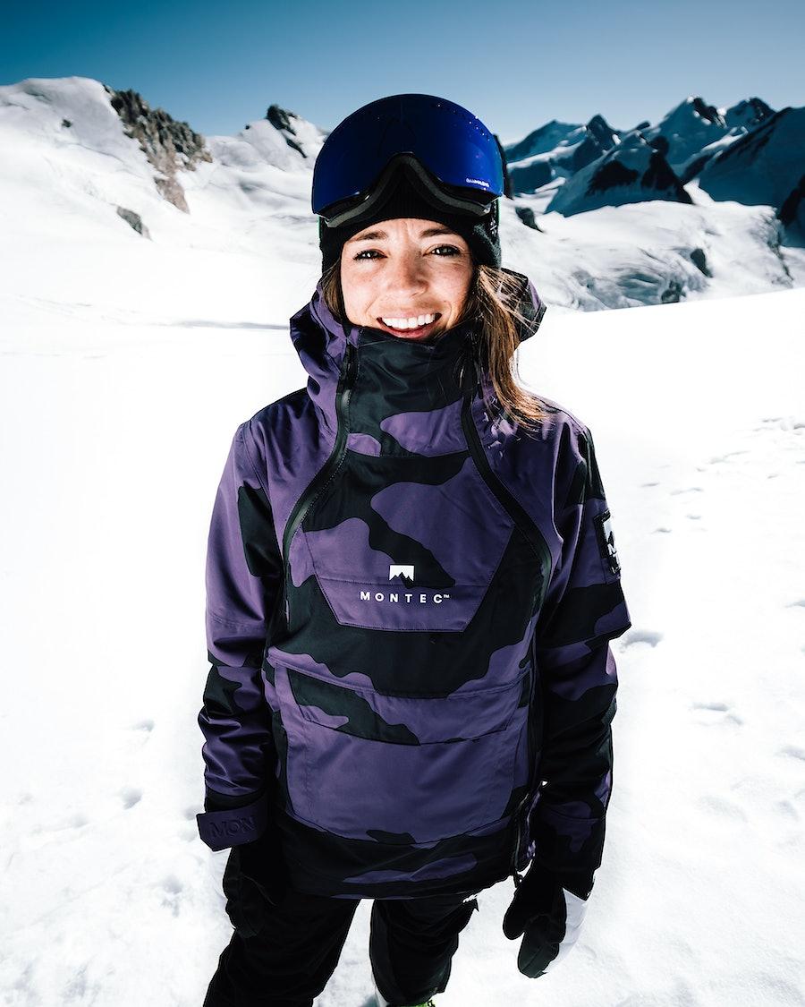 Montec Doom W Women's Snowboard Jacket Grape Camo