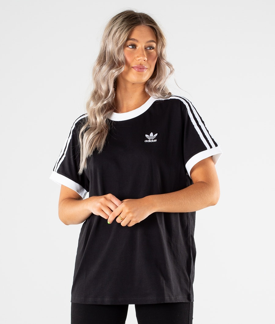 Adidas Originals 3 Stripes T-shirt Dames Black
