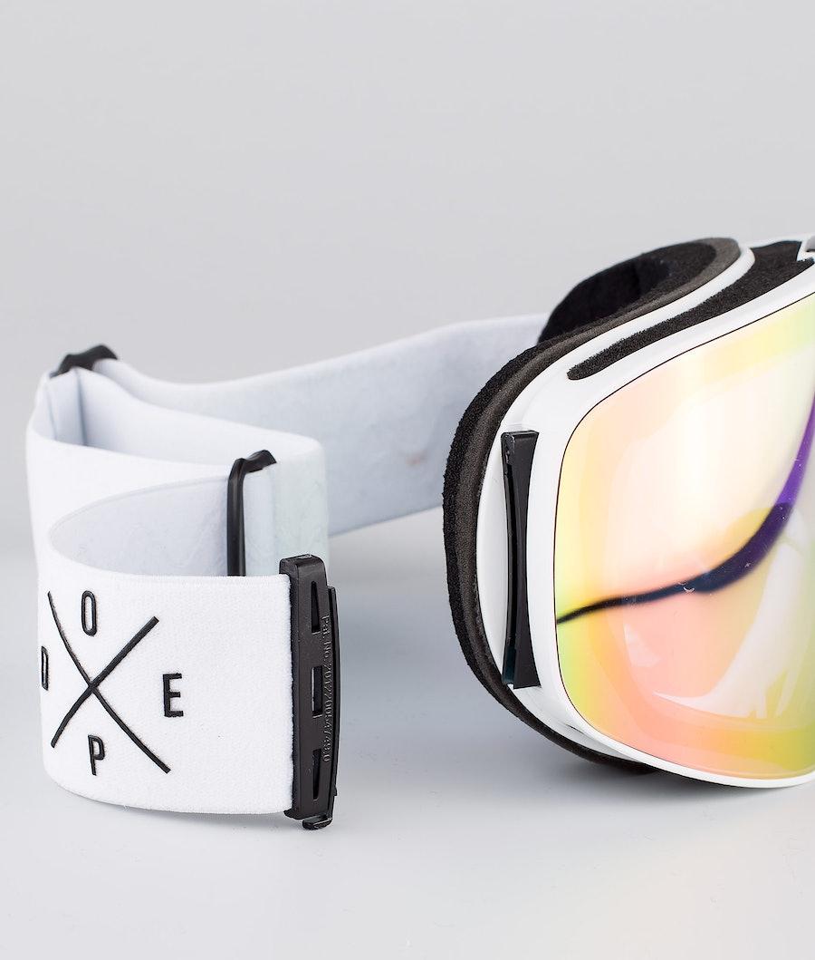 Dope Flush 2X-UP Skidglasögon White W/White Pink Mirror