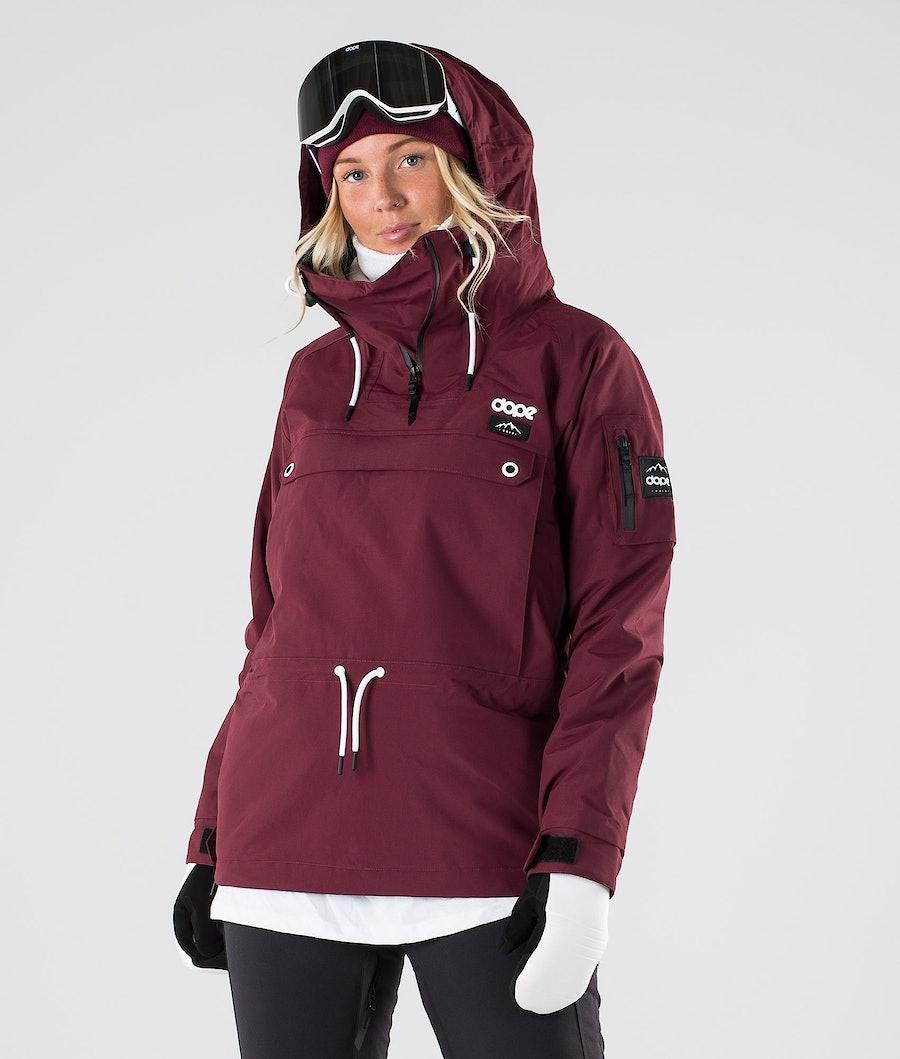 Annok W Snowboard Jacket Women Burgundy
