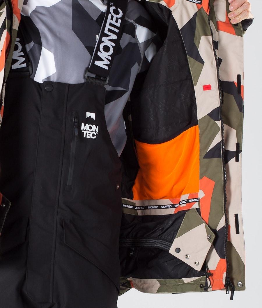 Montec Fawk Snowboard Jacket Orange Green Camo