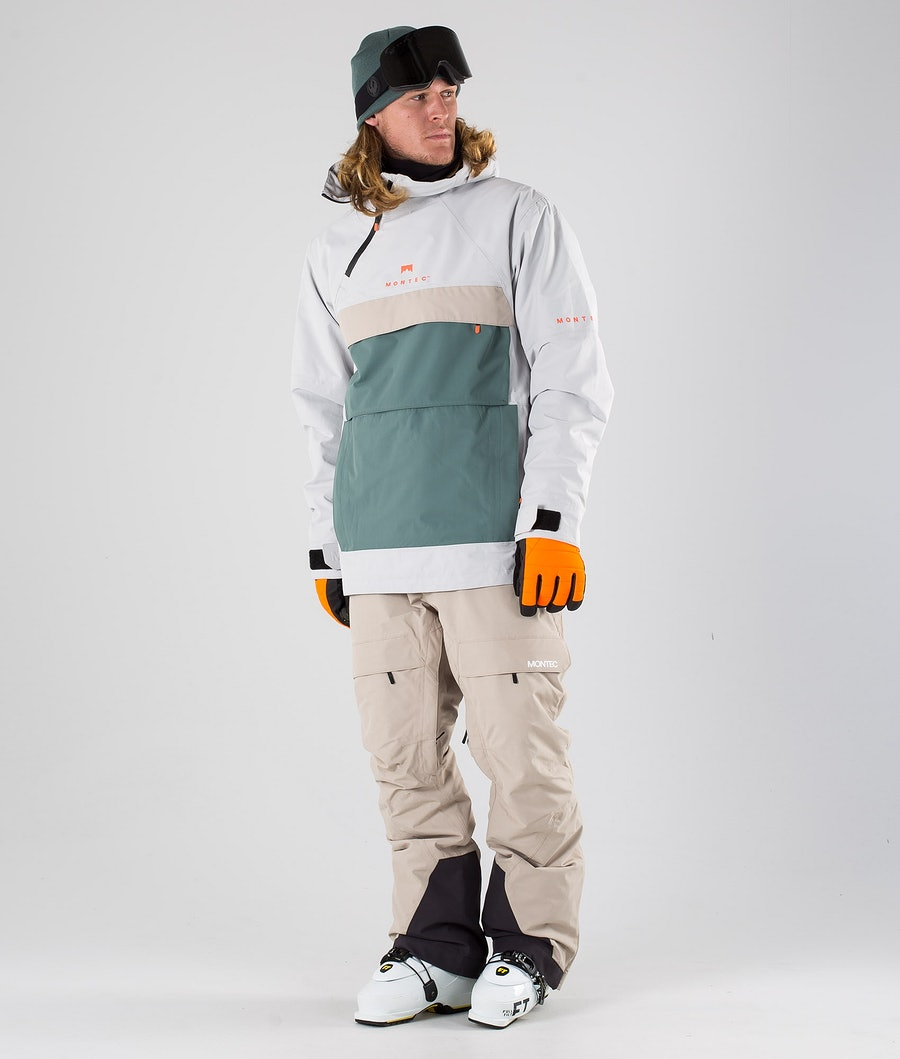 Montec Dune Ski Jacket Light Grey Atlantic Desert