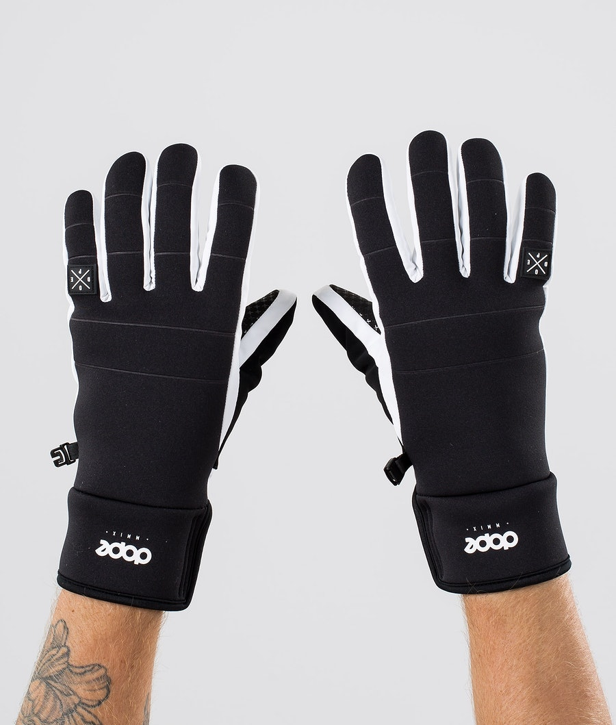 Dope Signet Glove Ski Gloves Black White