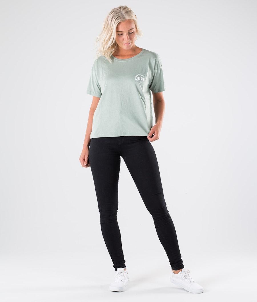 Dope Grand Paradise II Women's T-shirt Faded Green