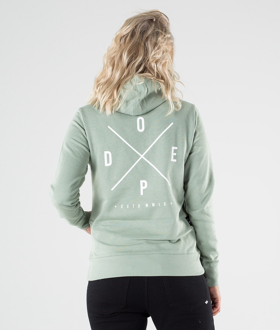 Dope Copain 2X-up Hoodie Damen Faded Green