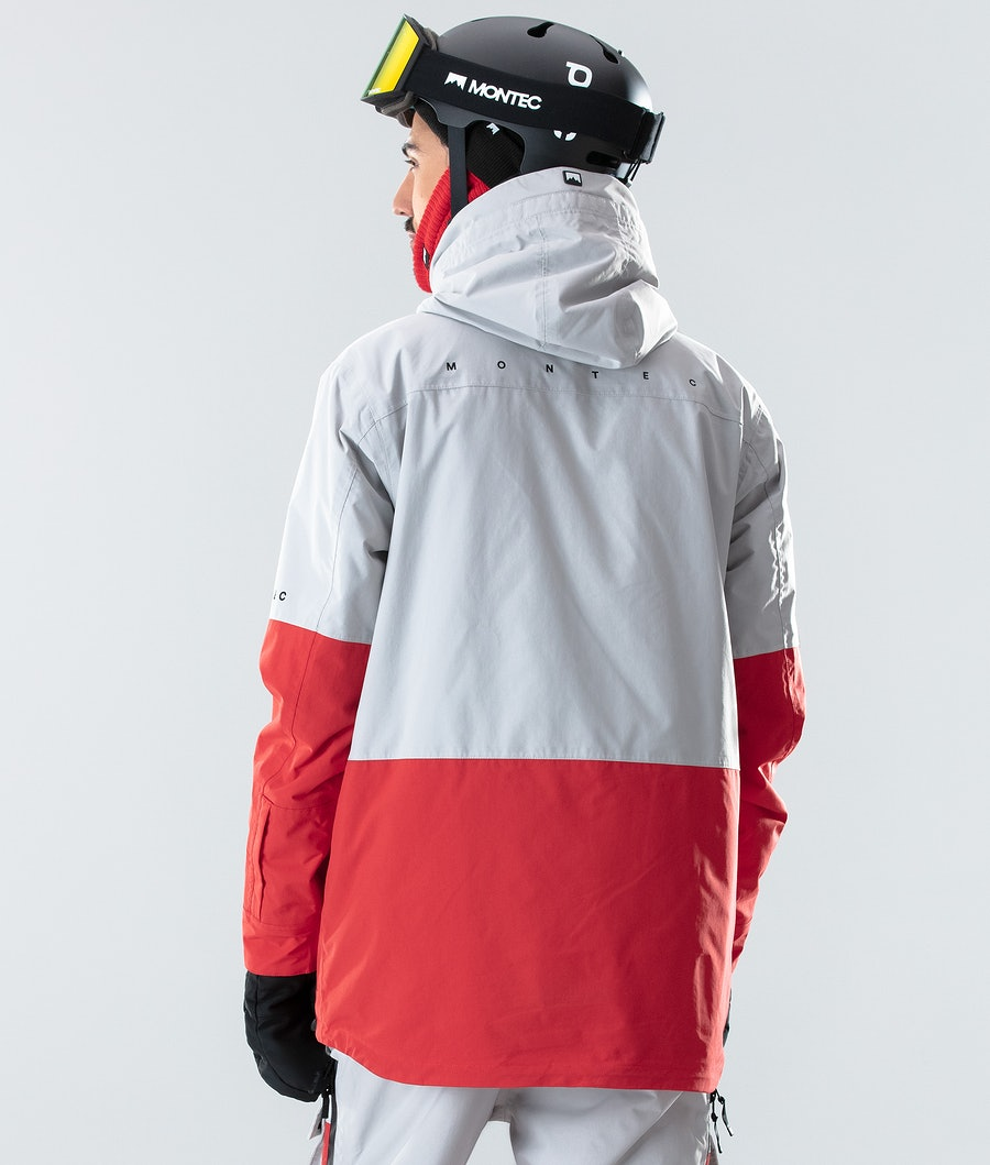 Montec Fawk Ski Jacket Light Grey/Red