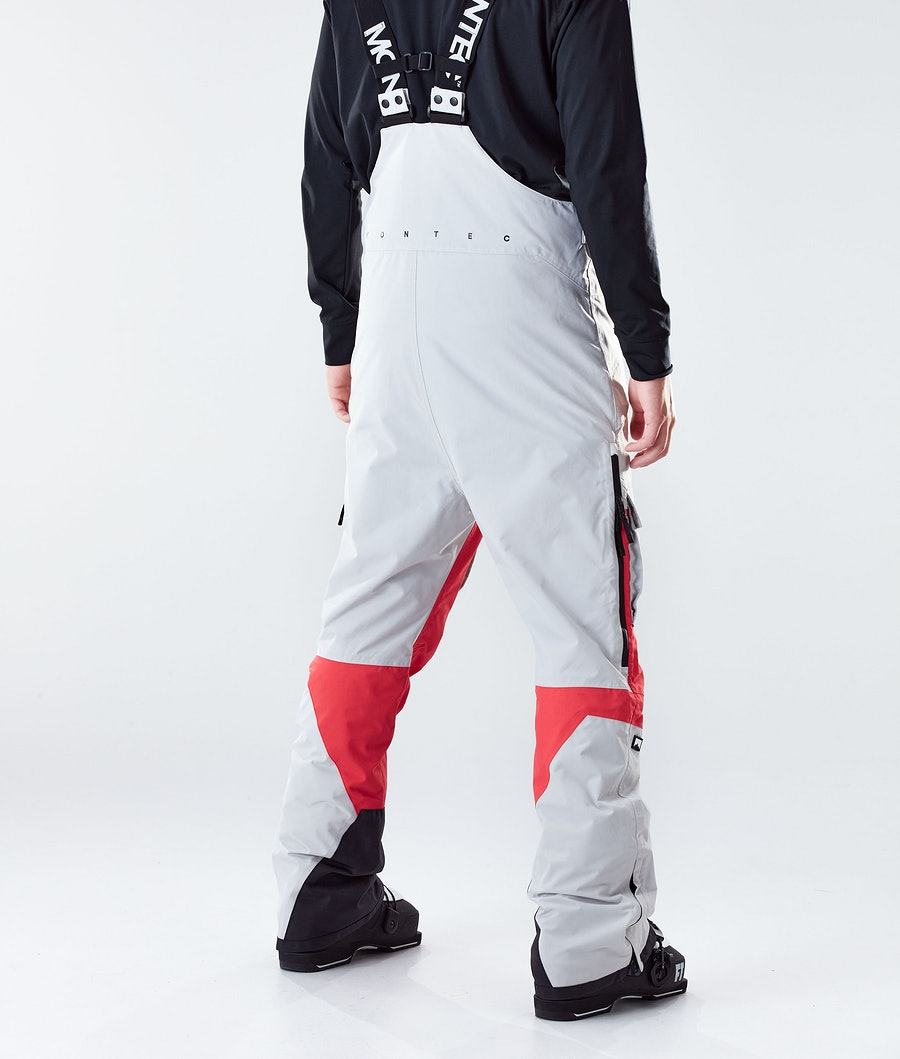 Montec Fawk Ski Pants Light Grey/Red