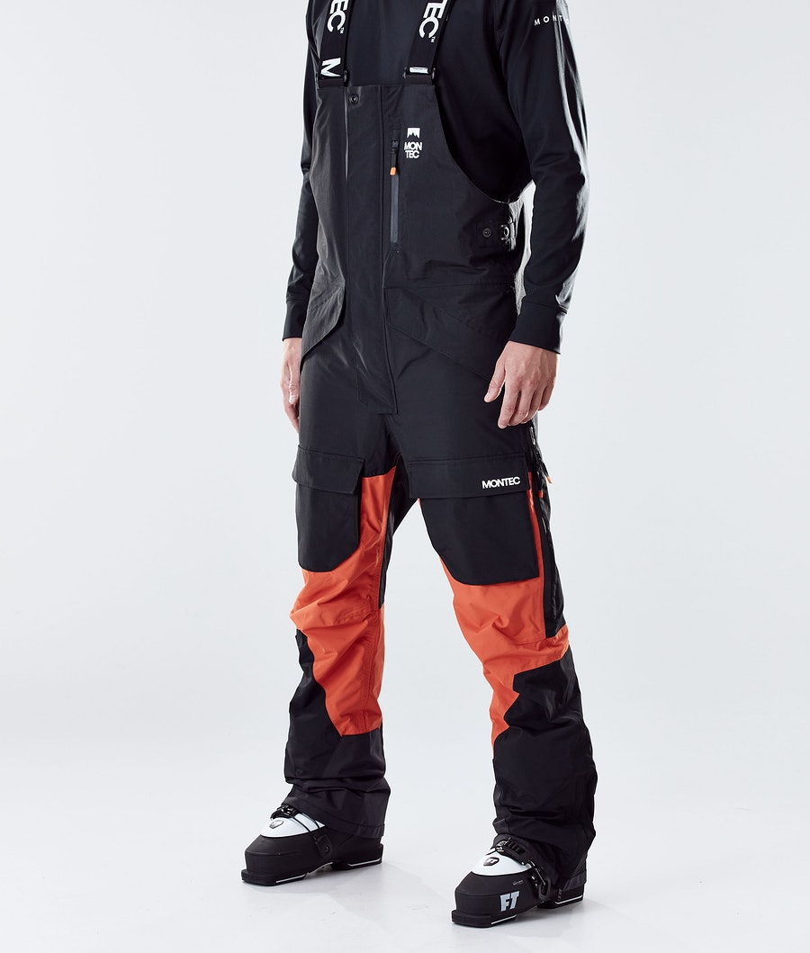 Montec Fawk Ski Pants Black/Orange Ski Pants Black/Orange