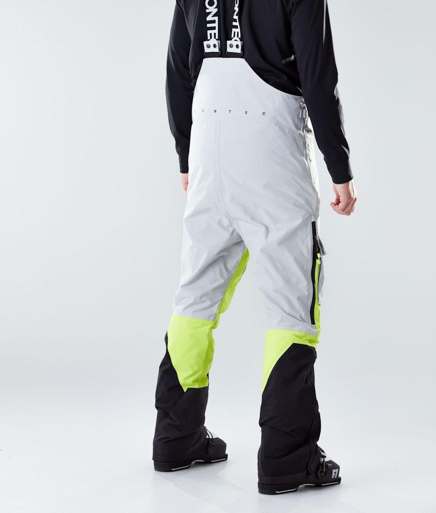 Montec Fawk Ski Pants Light Grey/Neon Yellow/Black