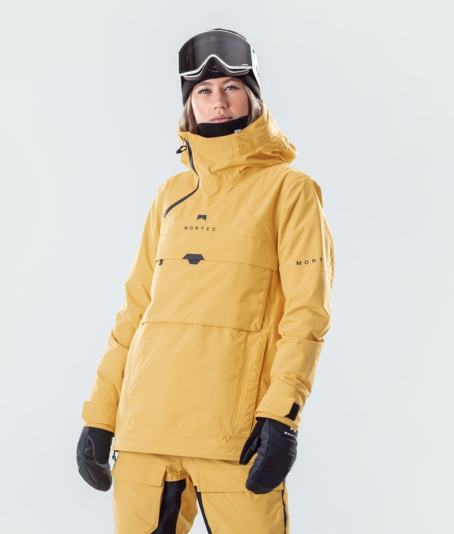 Montec Dune W Ski Jacket Yellow Ski Jacket Yellow