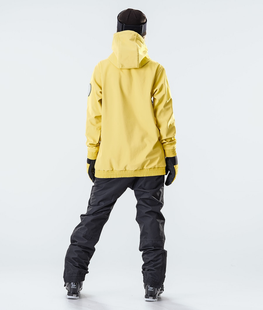 Dope Wylie Patch W Ski jas Dames Faded Yellow