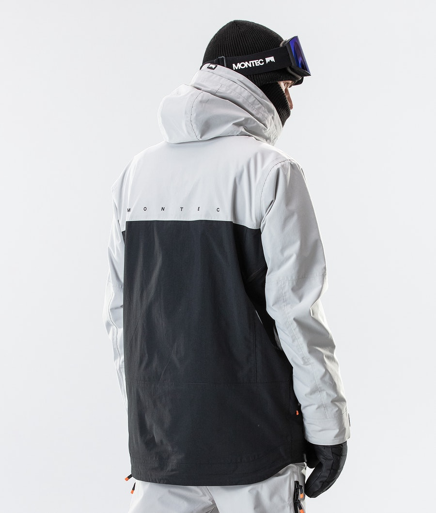 Montec Roc Ski Jacket Light Grey/Black