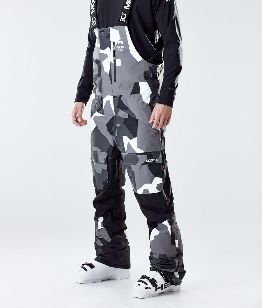 Fawk Ski Pants Men Arctic Camo/Black