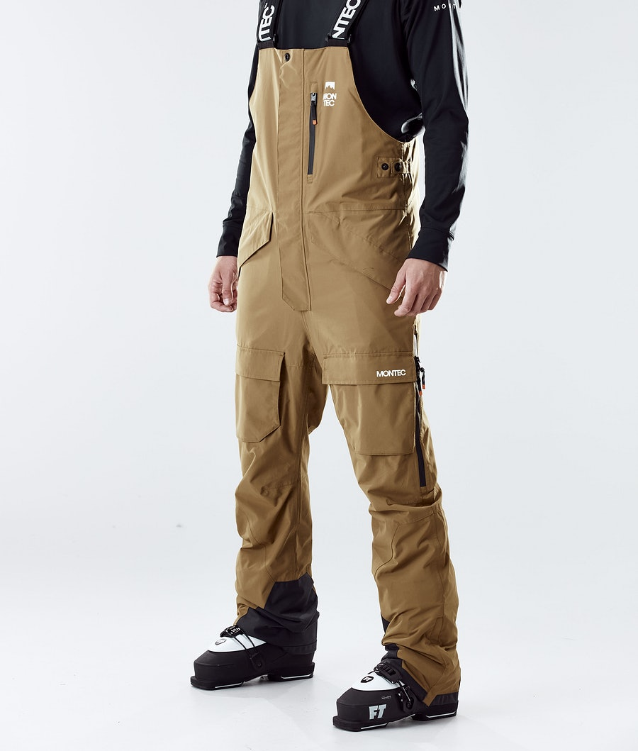 Fawk Ski Pants Men Gold