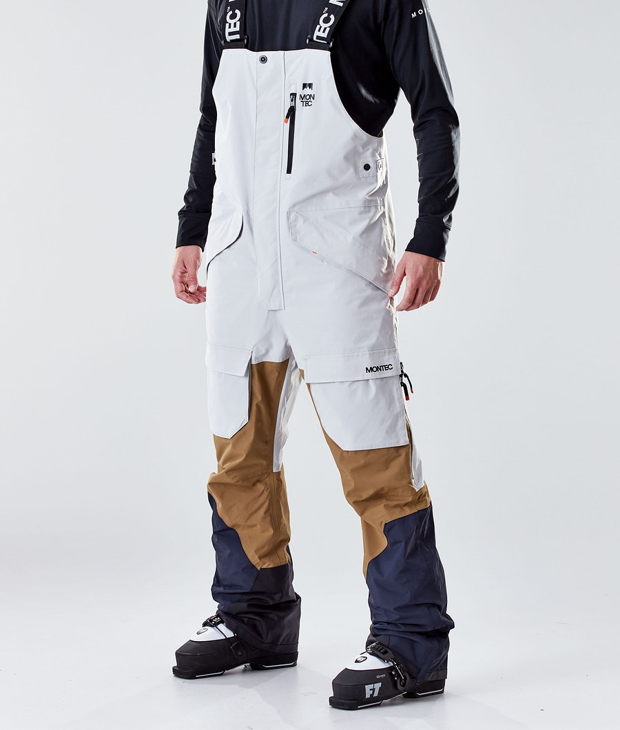 Montec Fawk Ski Pants Light Grey/Gold/Marine Ski Pants Light Grey/Gold/Marine