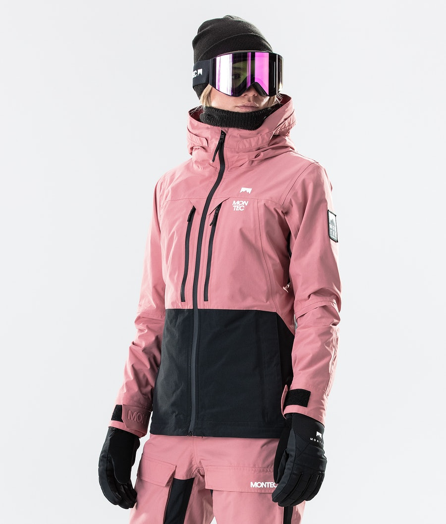 Moss Ski Jacket Women Pink/Black