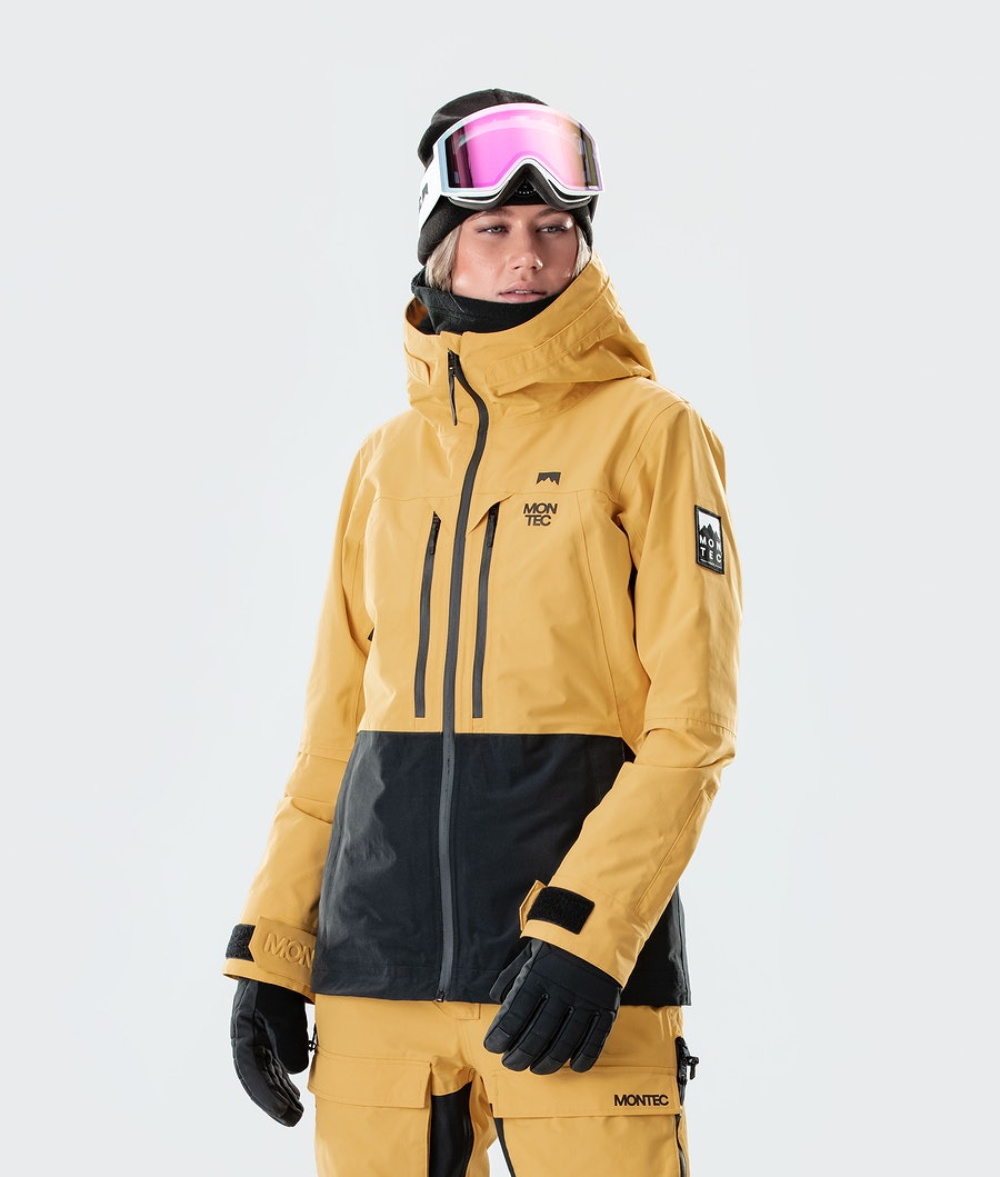 Moss Ski Jacket Women Yellow/Black