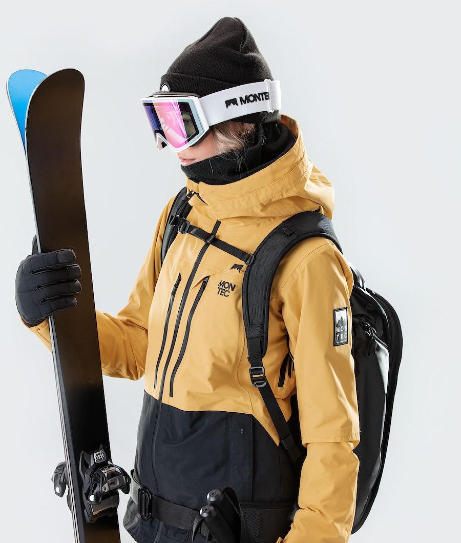 Montec Moss Women's Ski Jacket Yellow/Black