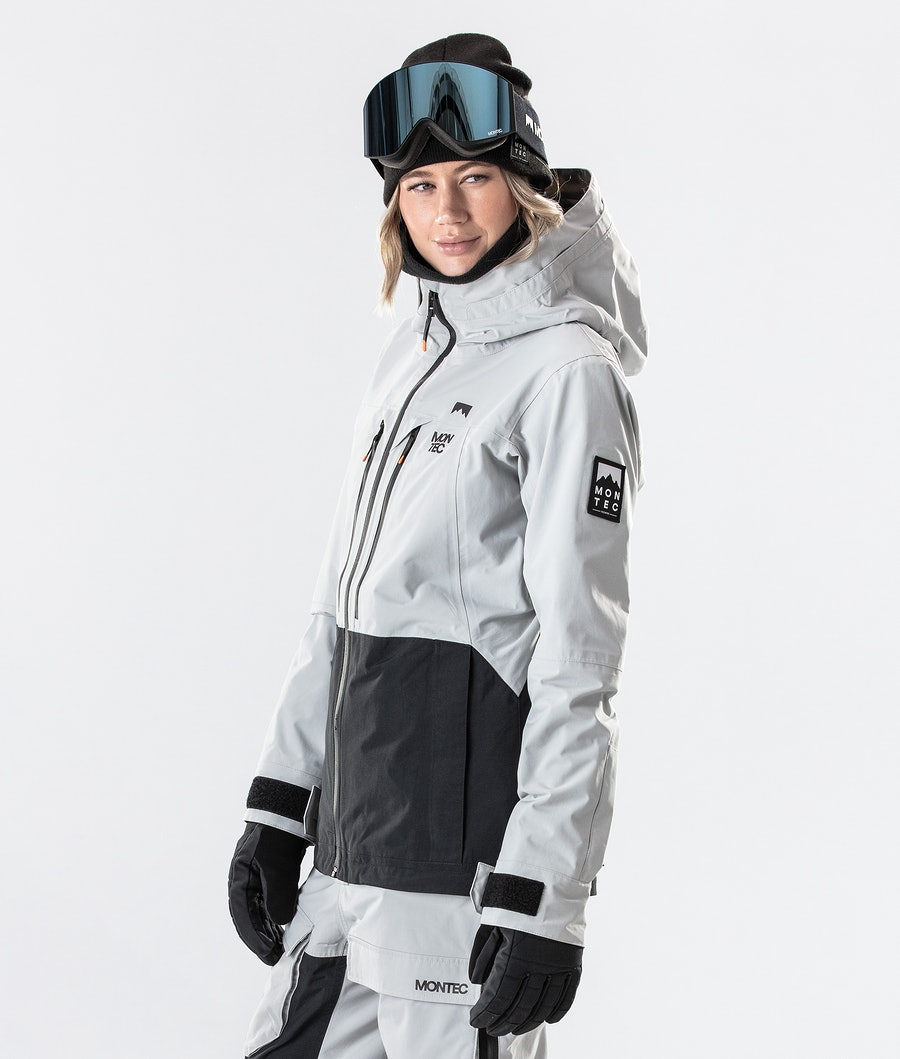 Montec Moss Women's Ski Jacket Light Grey/Black