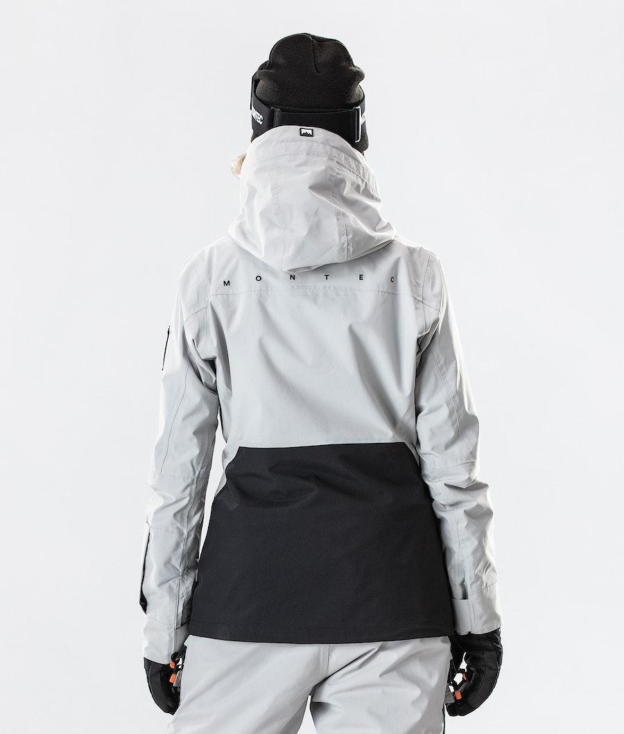 Montec Moss Women's Ski Jacket Light Grey/Black