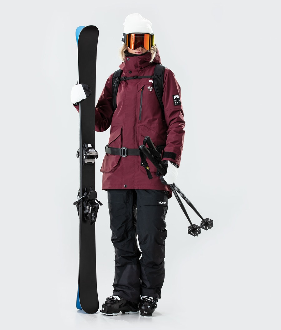 Montec Virago W Women's Ski Jacket Burgundy