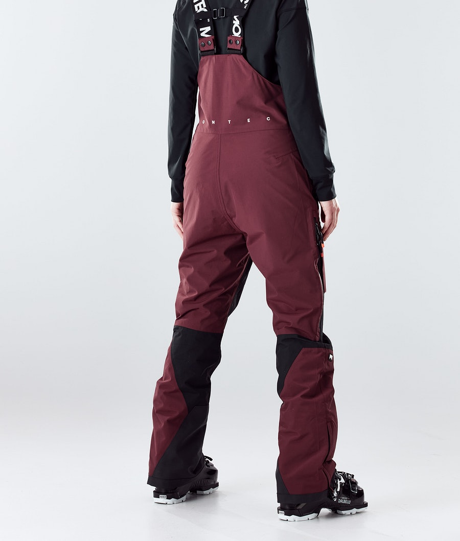 Montec Fawk W Women's Ski Pants Burgundy/Black