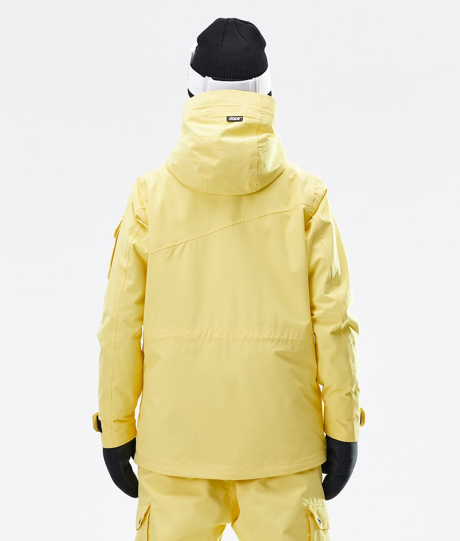 Dope Adept W Ski jas Dames Faded Yellow