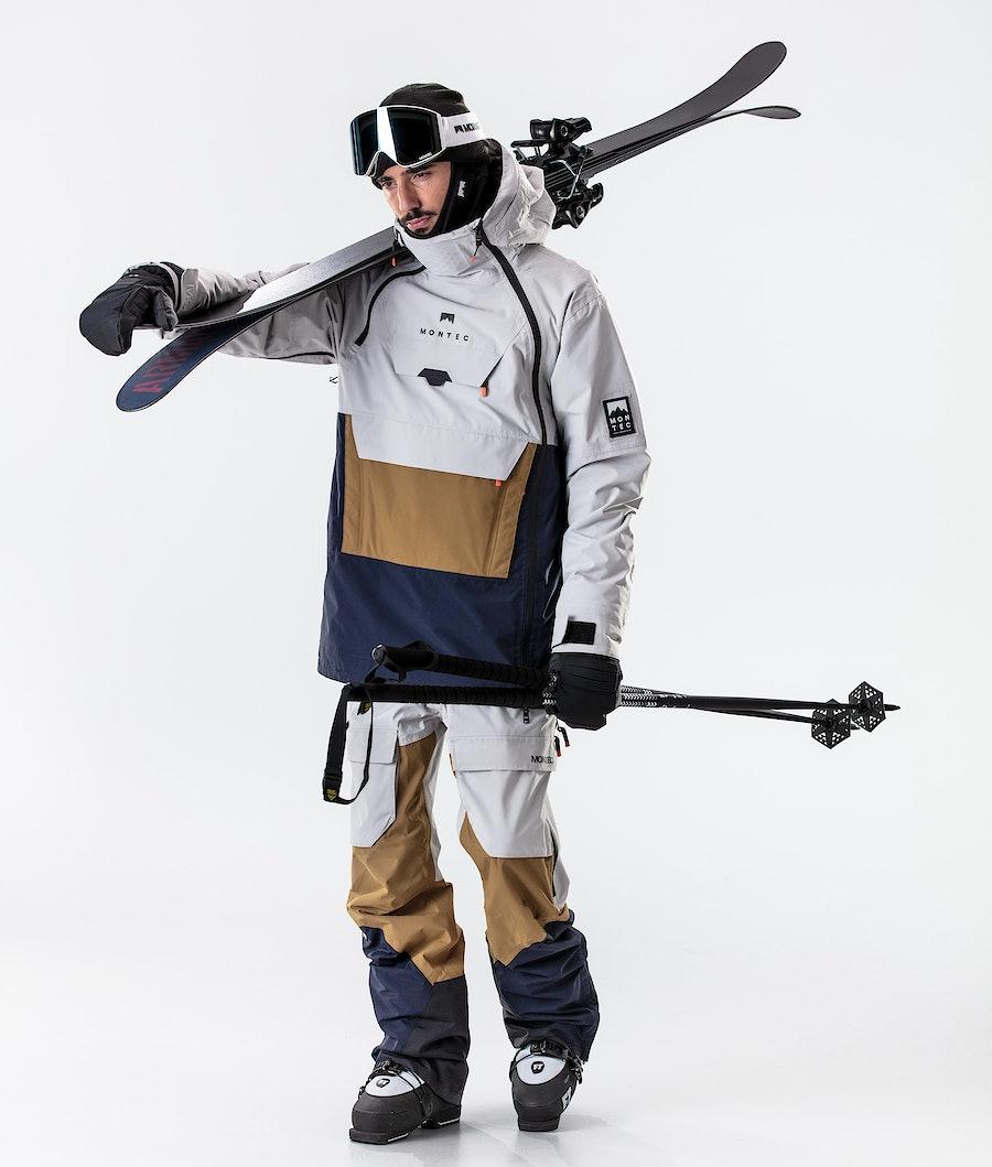 Montec Doom Ski Jacket Light Grey/Gold/Marine