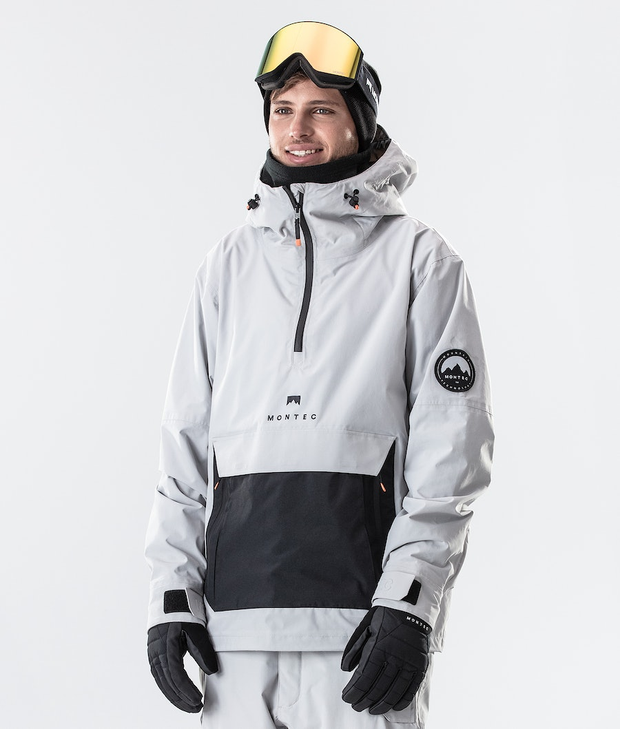 Montec Typhoon Ski Jacket Light Grey/Black