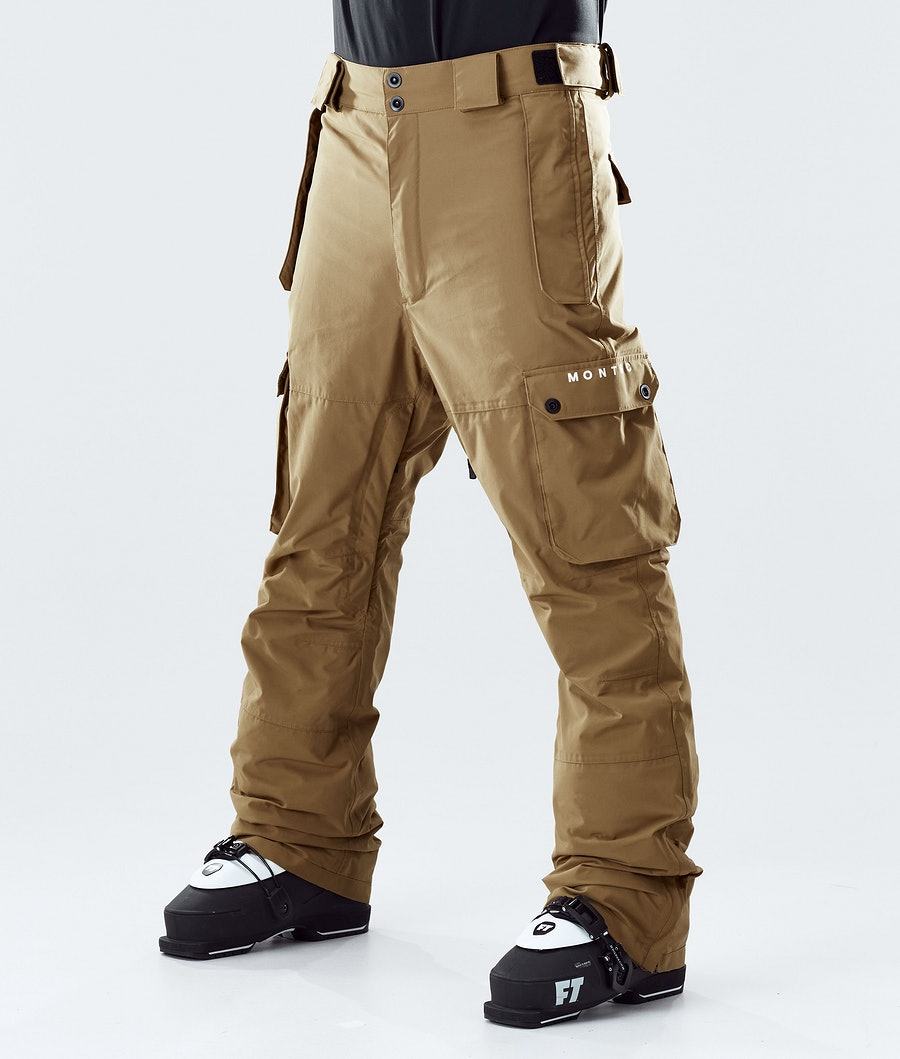 Doom Ski Pants Men Gold