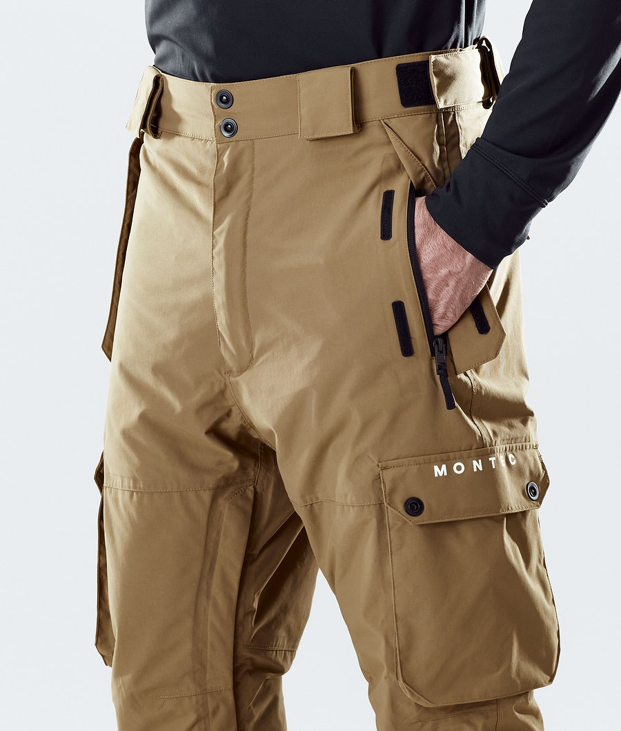 Montec Doom Ski Pants Gold