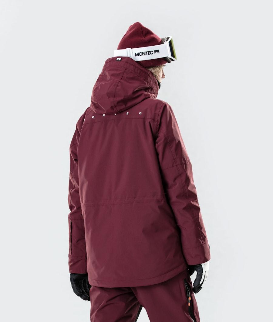 Montec Fawk W 2020 Women's Ski Jacket Burgundy