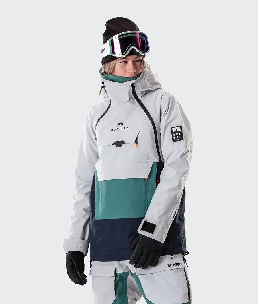 Montec Doom W Ski Jacket Light Grey/Atlantic/Marine