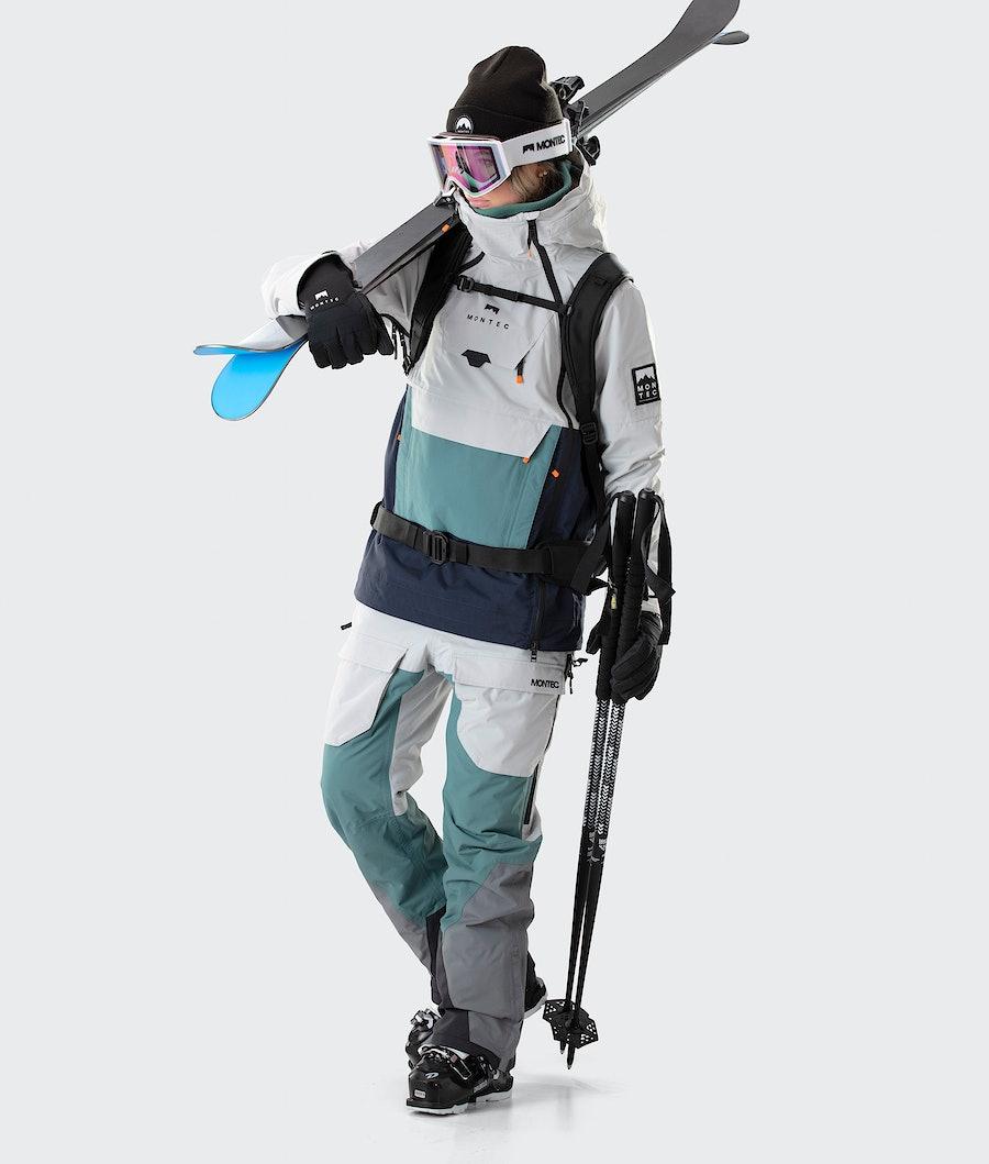 Montec Doom W Women's Ski Jacket Light Grey/Atlantic/Marine