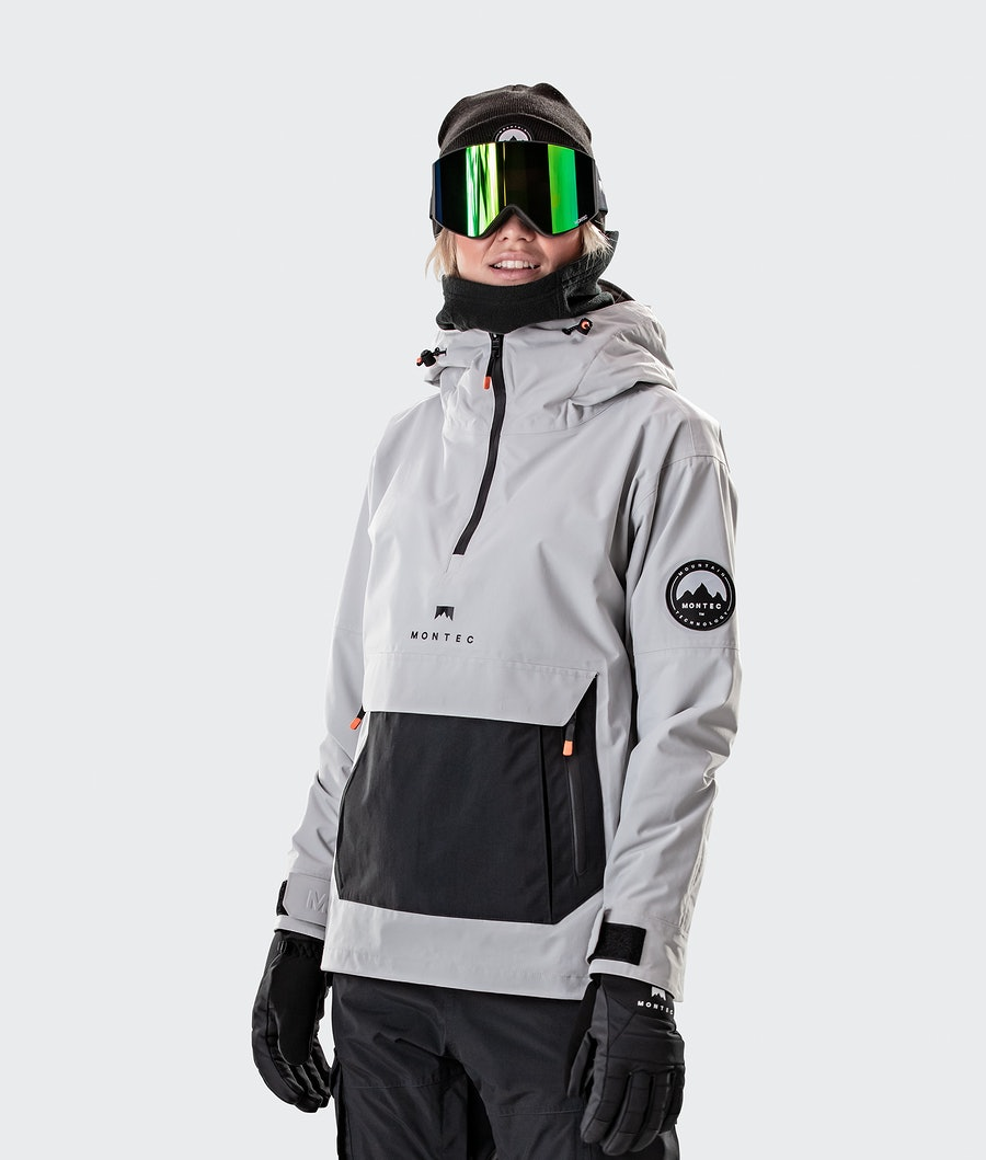 Montec Typhoon W Ski Jacket Light Grey/Black Ski Jacket Light Grey/Black