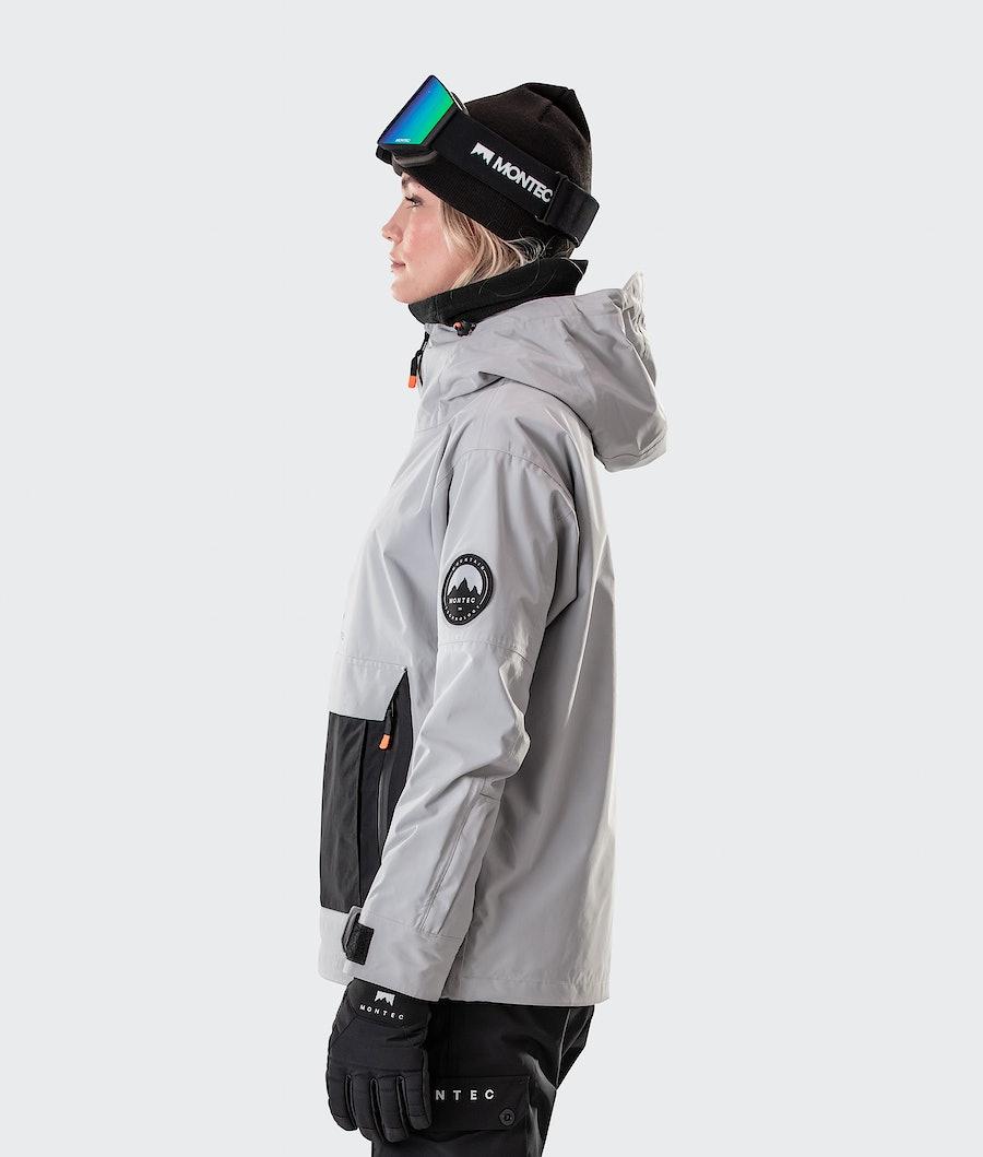 Montec Typhoon W Giacca Sci Donna Light Grey/Black
