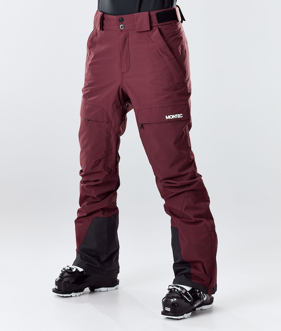 Dune W Ski Pants Women Burgundy