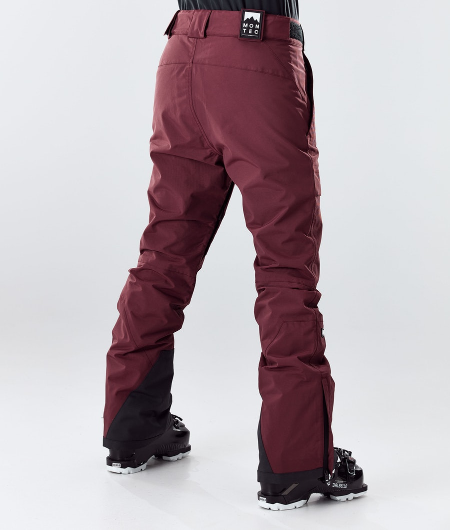 Montec Dune W Women's Ski Pants Burgundy