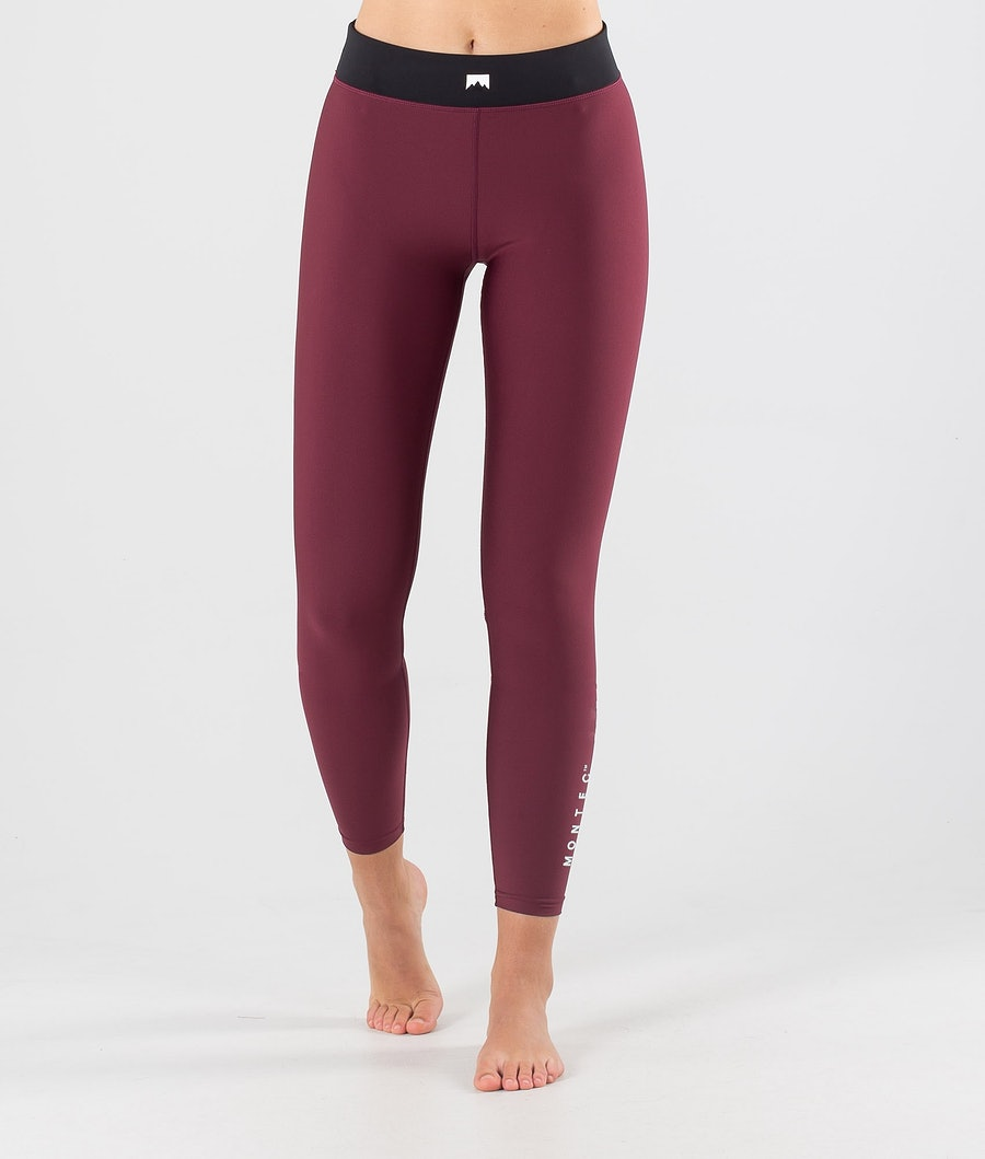 Zulu W Base Layer Pant Women Burgundy