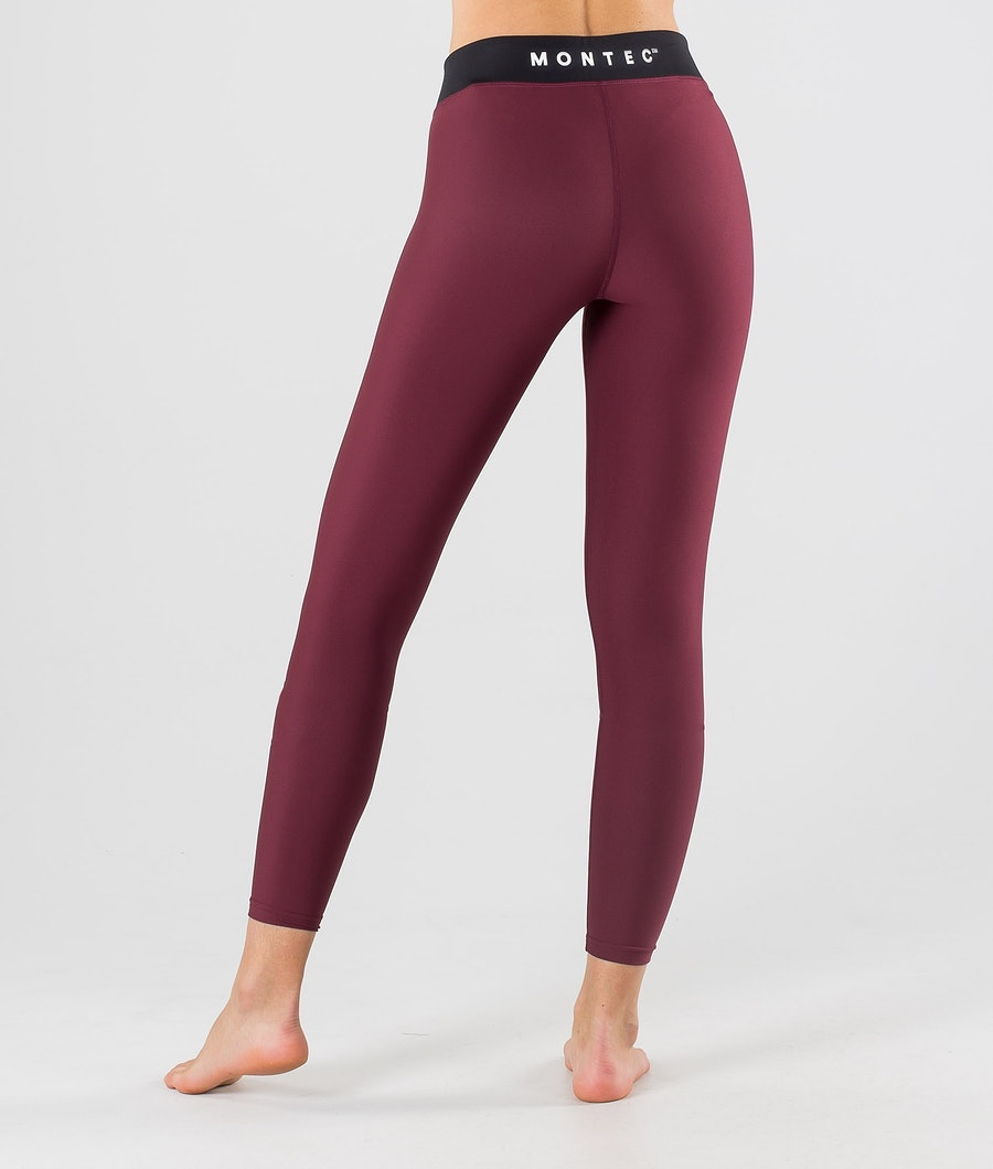 Montec Zulu W Women's Base Layer Pant Burgundy